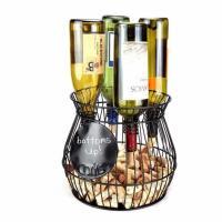home design decoration wrought iron wine cork holder