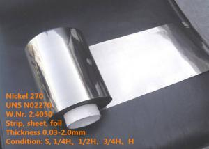 China Nickel 270 / UNS N02270 High End Special Alloys Foil / Wire For Electronic Part on sale