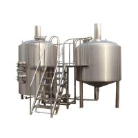 8BBL 2 Vessel Brewhouse Turn Key Beer Brewing Equipment Tri - Clamp Connection