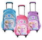 Cute Disney 5D Frozen Anna and Elsa Princess School Bag Trolley Bag For Teenagers