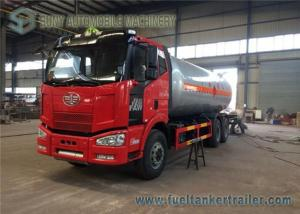 China FAW 10 Ton LPG Tank Truck , 24M3 3 Axles 6x4 Truck With Dispenser on sale