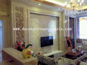 China Anti - Corrosion Marble Texture Wall Panel High Glossy Smooth Surface on sale