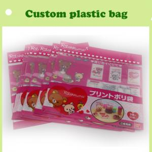 China cartoon header bag with self-adhesive colorful in China on sale