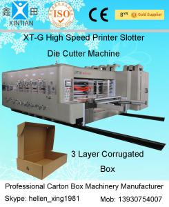 China High Speed Automatic Carton Machine Of Printing , Dynamic Balance Machine on sale