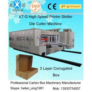 China High Speed Automatic Carton Machine Of Printing , Dynamic Balance Machine on sale