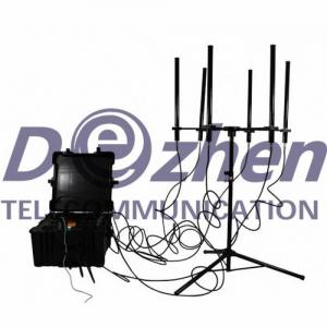 China 160W 4-8 Bands Drone Signal Jammer High Power 300-1000 Meters Jamming Range on sale
