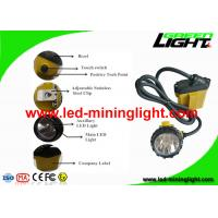 China Rechargeable 3W Cree LED Mining Light Cap Lamp with Low Power Warning on sale