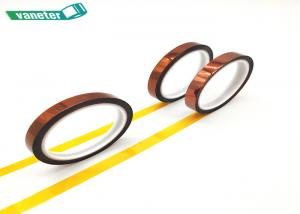 China 7mm Kapton Polyimide Tape , High Temperature Silicone Adhesive Tape on sale