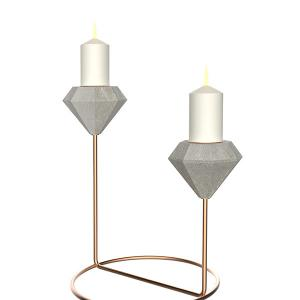 China Golden Supplier Wedding Decorative cement  Candle Holder on sale