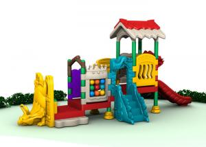China Toddler Outdoor Playground Sets Outdoor Plastic Playset With Slide For Adventure on sale