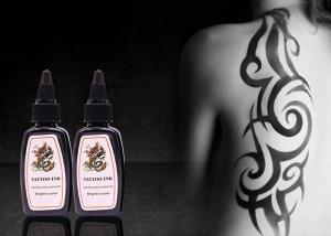 China Black Permanent Tattoo Ink 30ml / 1oz / Bottle Permanent Makeup Tattoo Ink on sale