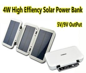 China 4W High Efficiency Solar Power Bank Portable Solar Battery Charger Fodable Power Bank on sale