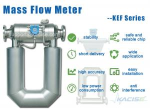 China Air coriolis mass flow meter on sale