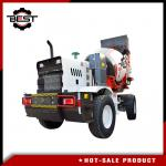 Bidirectional Driving Mobile Concrete Mixer Truck For Road Construction