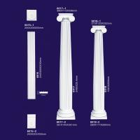 China Polyurethane Decorative Roman Columns Lighted Wedding Pilaster Home Decor On Sale