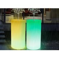 Outdoor Illuminated Rechargealbe LED Flower Pots Vertical Planter Big Size Decorative Vases