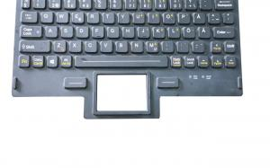 China OEM customs military keyboard with red backlight and front panel mounting on sale