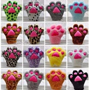 China Plush Paw Gloves Hand Puppet stuffed Animal  Plush Toys For Promotion Gifts on sale