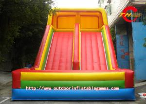 China Rainbow Large Inflatable Water Slides For PVC Tarpaulin Material on sale