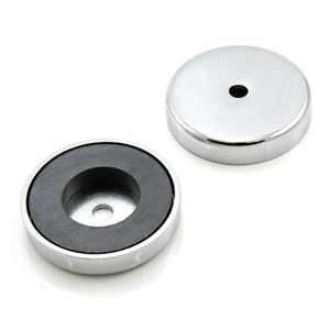China Custom design and size ring shape ferrite pot magnet with little volume / cup steel body on sale
