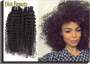 China Grade 6A Kinky Curly Unprocessed Virgin Human Hair Extensions 100G Per Bundle on sale