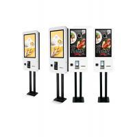 China Restaurant Floor Standing Self Ordering Kiosk With Illuminated Menu Board on sale