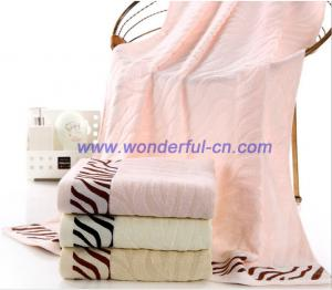 China 2016 Hot sale pretty Jacquard zebra textured bath towels on sale