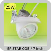 25W EPISTAR COB dimmable led downlight kit gimbal head