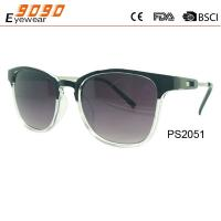 New arrival and hot sale of plastic sunglasses,suitable for men and women