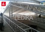 6082 Aluminum Square Truss , Light Stage Backdrop Arch Roof  Truss Frame System