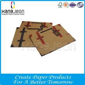 China Customized Logo Kraft Hot Sell Shopping Paper Bag / Gift Paper Bag with Ribbon on sale