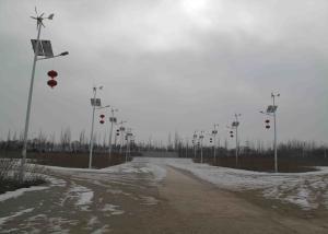 China 400w Wind Solar Street Light , DC12V 24V Off Grid Hybrid Solar Wind Power System on sale