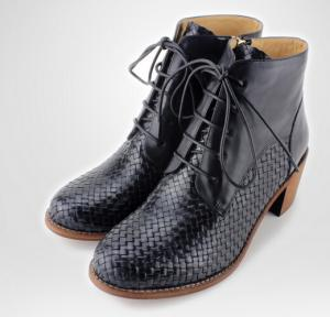 China Fashion women high heel ankle boot sexy women metal decoration lace up boot on sale