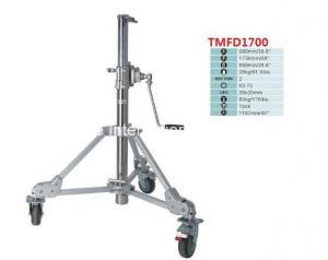China Heavy Duty Steel Portable Tripod Light Stand With Rocker Arm And Photographic Equipment on sale