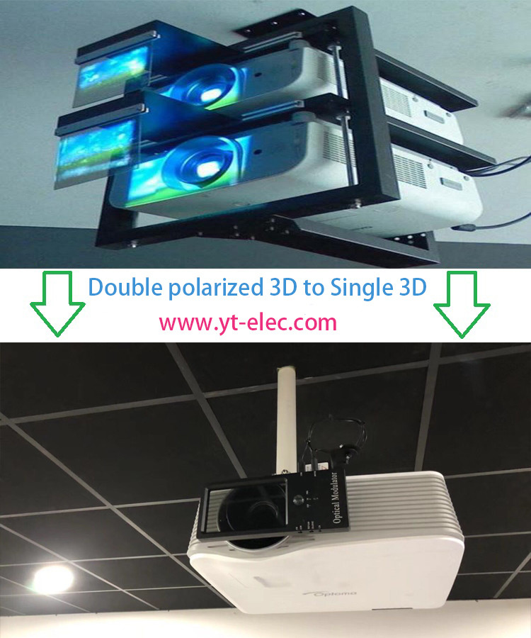 XPAND active shutter to YT-PS600 Passive 3D 2