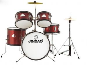 Jinbao Musical Instrument Red Color 5 Pc Junior Drum Set For Sale
