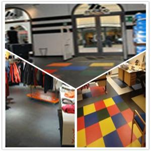 China 3W Plastic Vinyl PVC Anti-slip Interlocking Shoping flooring Mats on sale