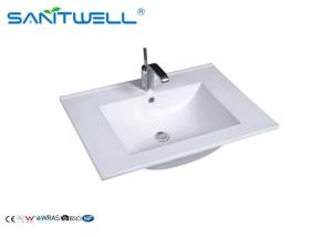 China Portable Hand Wash Basin / White Ceramic Counter Top Basin AB8003-60 supplier