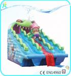 China 0.55mm PVC tarpaulin Inflatable commercial Riceroar Water Slides wholesale