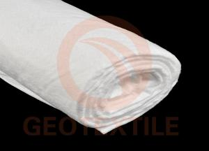 China White Spun Bond Geotextile Filter Fabric Nonwoven For Landscape Polyester Material on sale