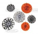 Hallowmas Paper Fan Round Folding Fans Hanging Party Home Decorations