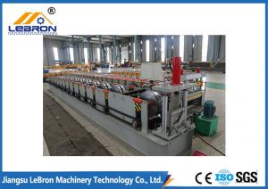 China New White And Blue Semi Circle Metal Gutter Roll Forming Machine / Steel Rain Gutter on sale