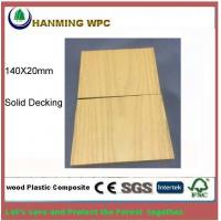 China 140X20mm WPC Solid outdoor decking from Changxing Hanming Technology Co.,LTD on sale