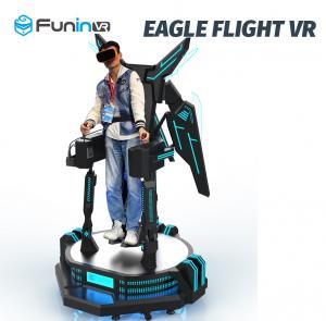 China Standing Arcade Flight Simulator Machine , 100 Pcs 5D Movies Rotation Simulator on sale