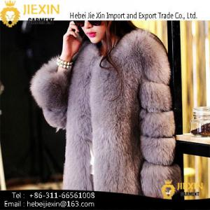 China Women Coats Winter Ombre Clothing Ladies Faux Fur Coats on sale