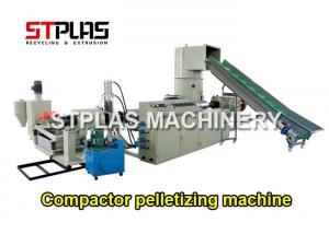 China Single Screw Extruder Pellet Machine For BOPP Films / Bags Highly Efficient on sale