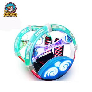 China Leswing Travelling Amusement Park Bumper Cars Colorful Rotation Type on sale