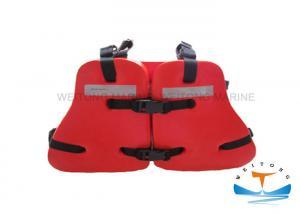 China Orange Work Life Jacket , Marine Safety Vest PVC Plastic Polymer Coating Three Pieces on sale