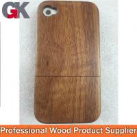2014 Hot Sales Wood Phone Shell With Key Button For Iphone4