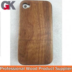China 2014 Hot Sales Wood Phone Shell With Key Button For Iphone4 on sale